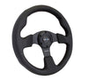NRG Reinforced Steering Wheel (320mm) Black Leather w/Black Stitching
