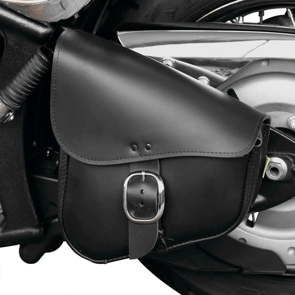 Swing Arm Bag Lthr Chrome