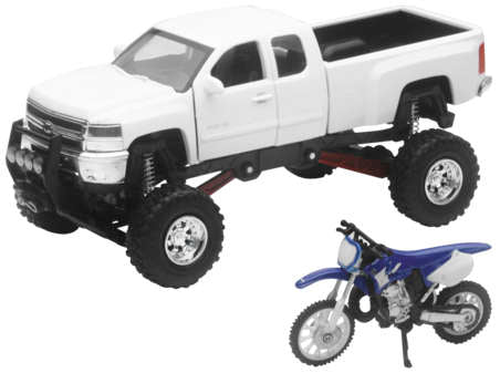 1:32 SCALE TRUCK AND DIRT BIKE SETS