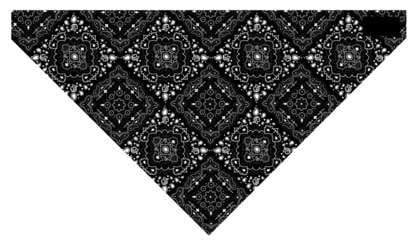 3In1 Headband Blk Paisley