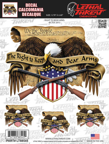 Right To Bear Arms 6X8  4/Pk