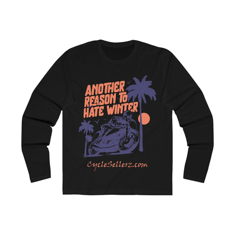 """Hate Winter"" Men's Long Sleeve Crew Tee"