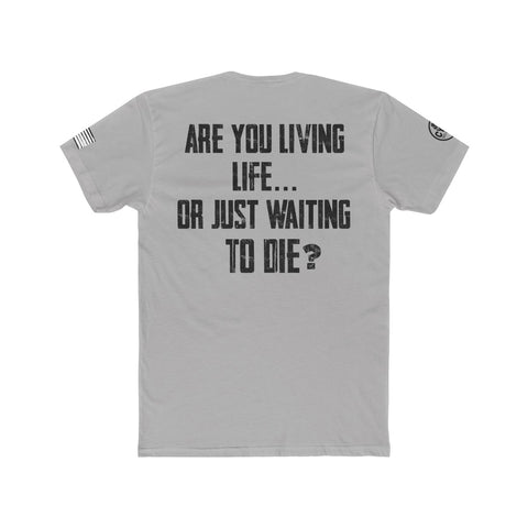 """Living Life"" Men's Crew Tee - Blk Text"