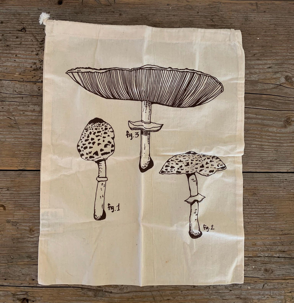 farmer's market bag - mushrooms