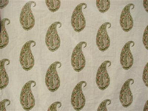 Live Paisley in Olive and Pink