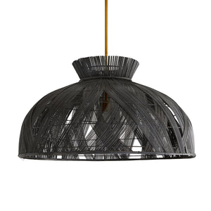 wrapped black chandelier