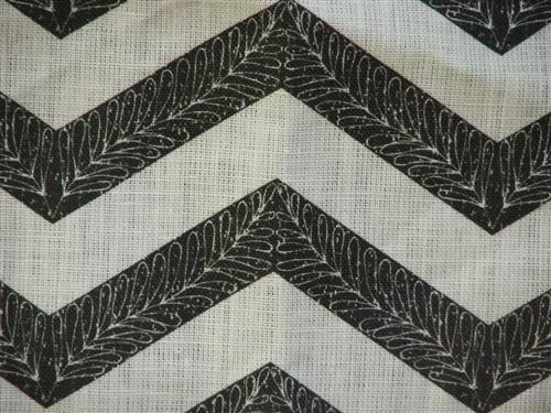Filigree Chevron in Black and Cream