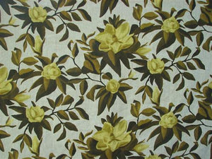 Magnolia in Chartreuse on Oatmeal