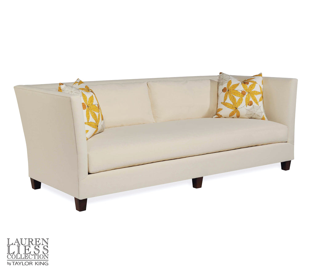 shelter sofa- upholstered with exposed legs