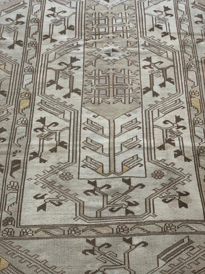 "vintage turkish kars rug - 4' 7"" x 6' 11"""