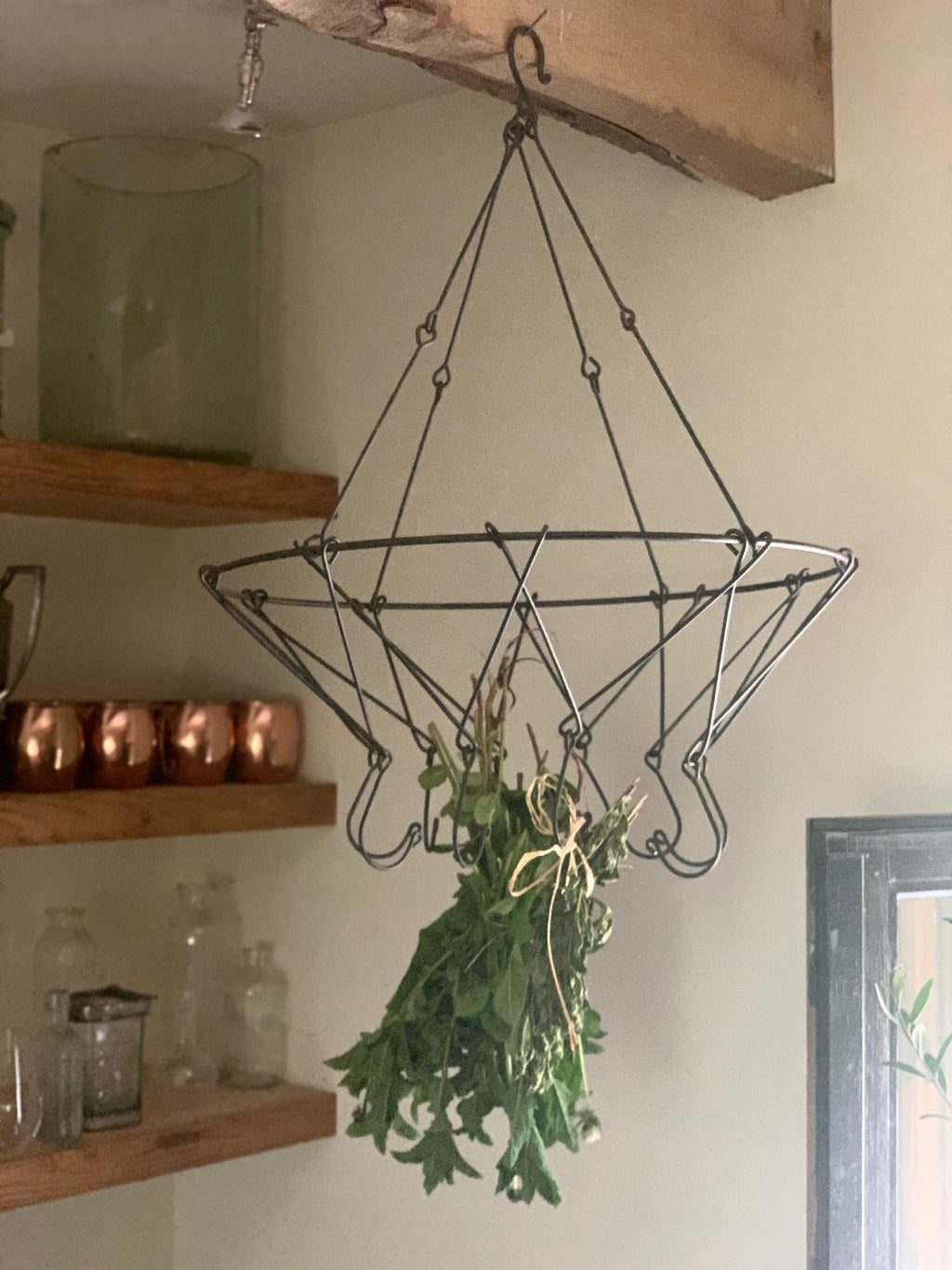 hanging herb drying rack