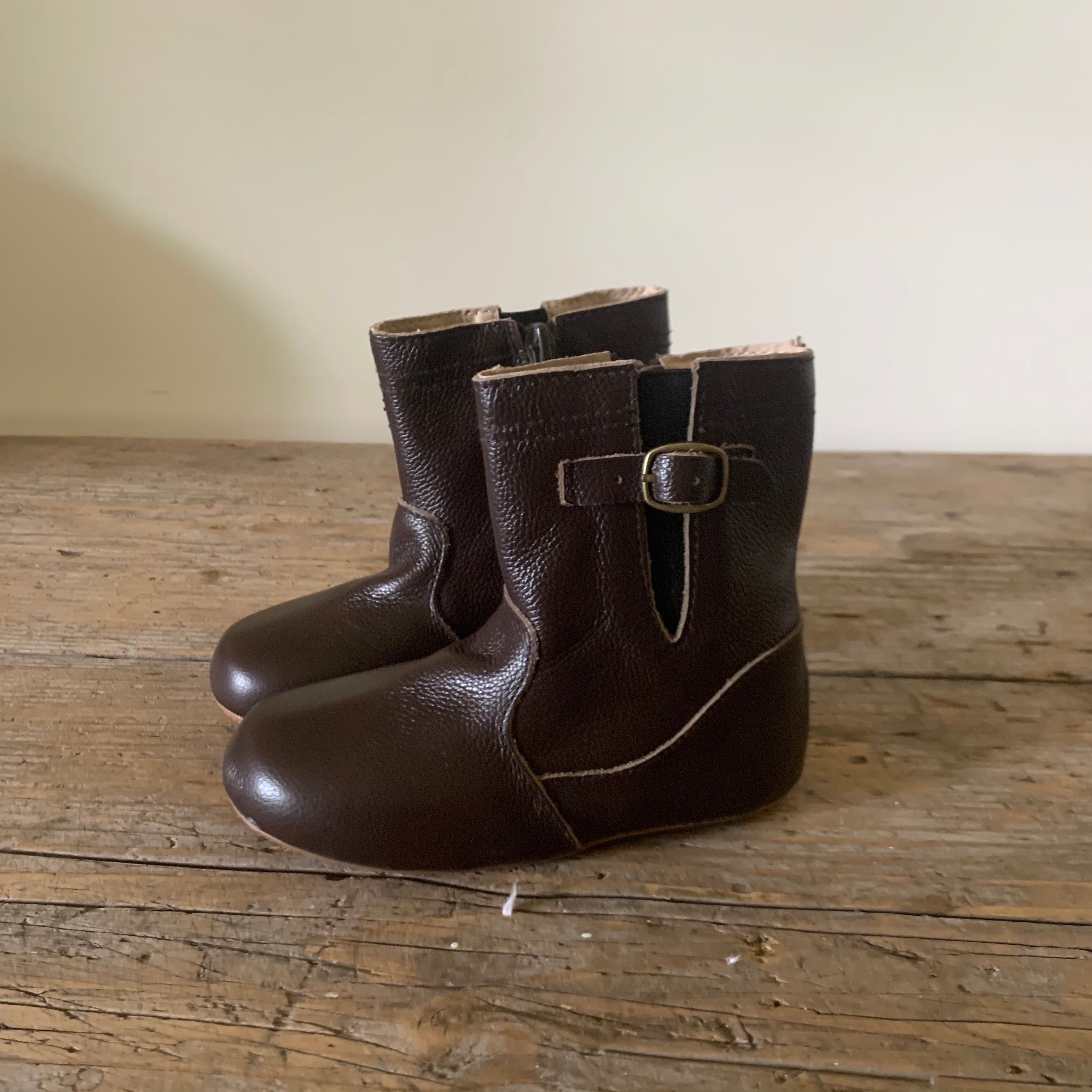 chocolate brown riding boots
