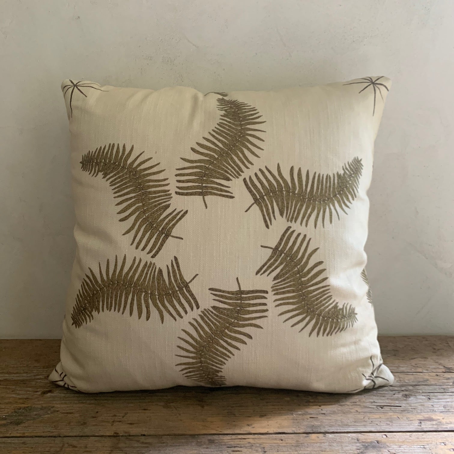 "LL textiles  ""fern star"" pillow"