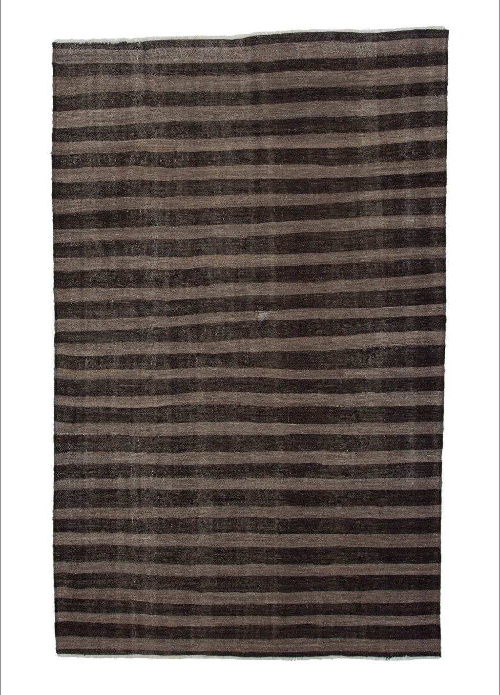 "vintage striped turkish kilim- 5' 9"" x 9' 4"""