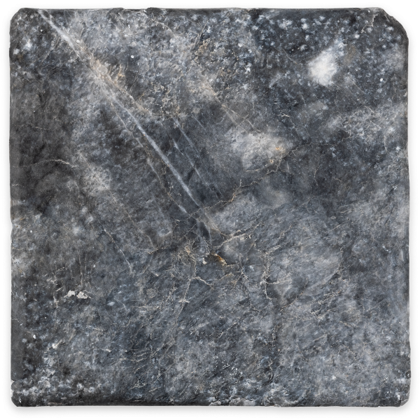 veranda 10x10 marble tile- antiqued gray