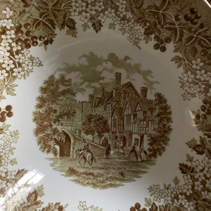 vintage green transferware collection