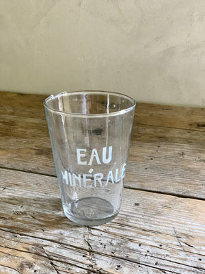 set of 4 eau mineral water glasses (multiple sets available)
