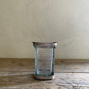 large cut glass cutting vase