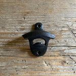 cast iron mounted bottle opener