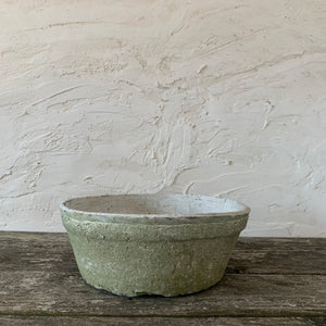 large terra cotta planter- whitewashed