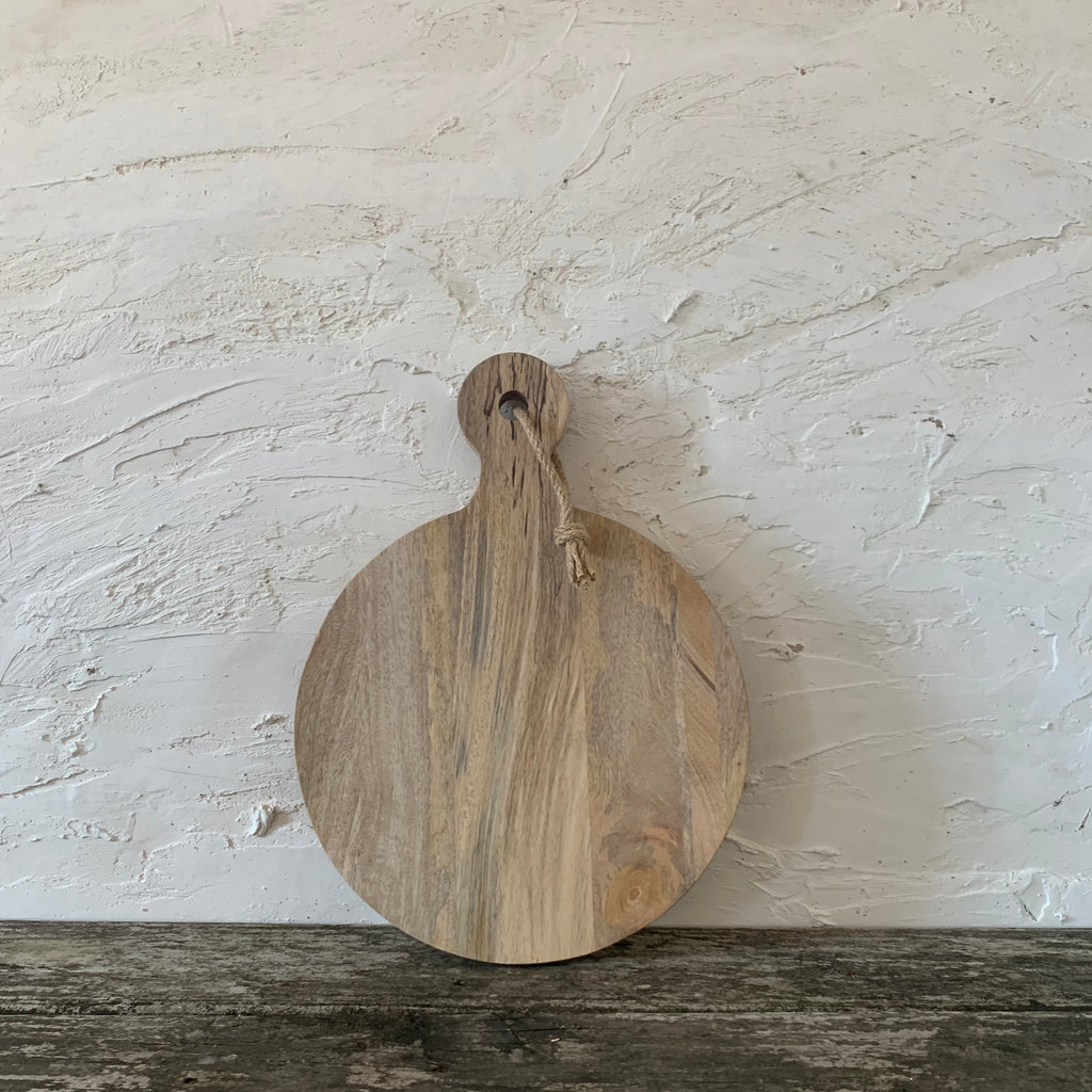 hanging round cutting board- small
