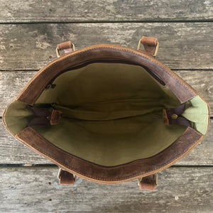 sturdy leather everyday bag