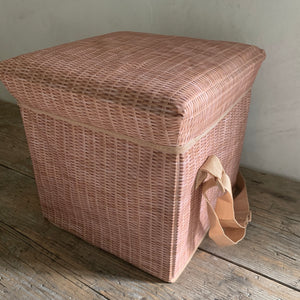 wicker print cooler seat