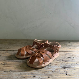 sandal moccasin - brown leather
