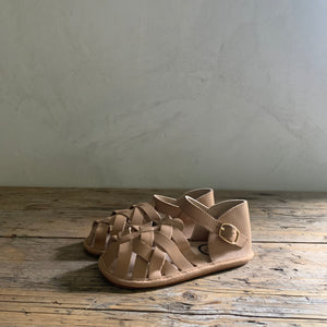 sandal moccasin - tan leather