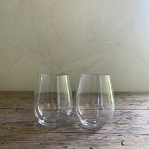 set of 2 shatterproof wine tumblers