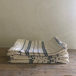 tea towel towel- natural with gray