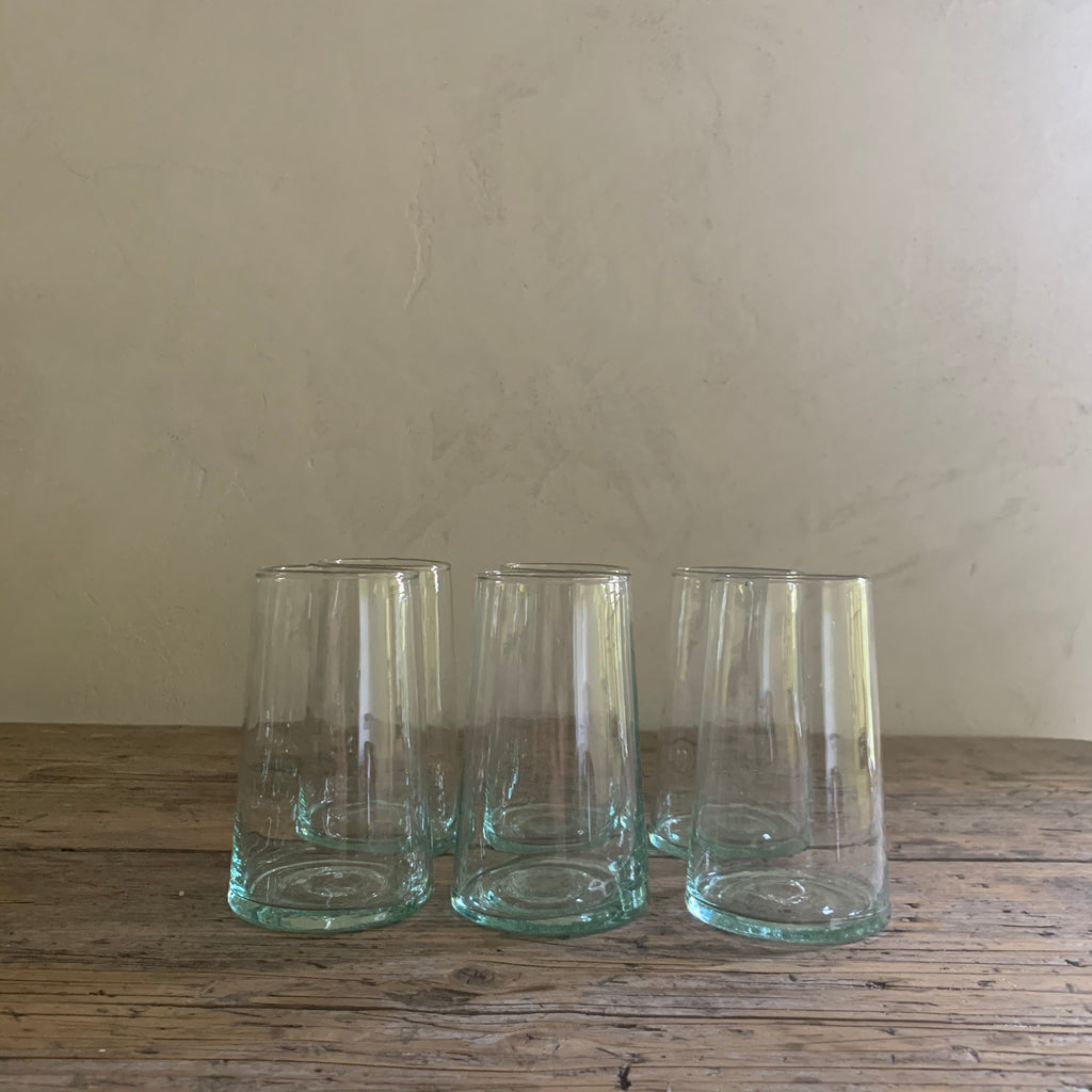 set of 6 handblown water glasses (multiple sets available)