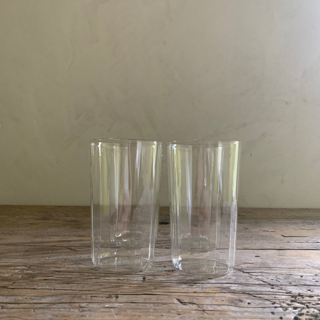 set of 4 borosilicate glass high balls