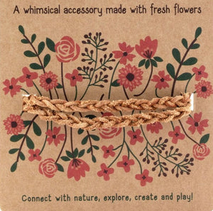 braided leather flower necklace