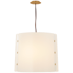 medium white acrylic drum pendant