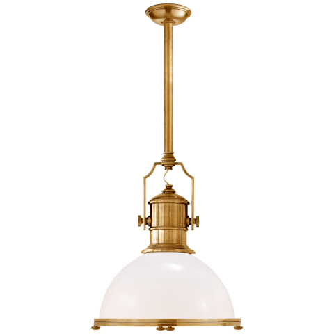 large brass industrial pendant