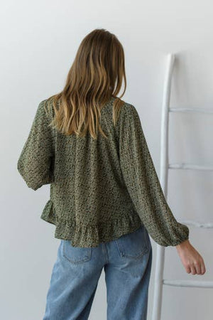 forest peasant blouse