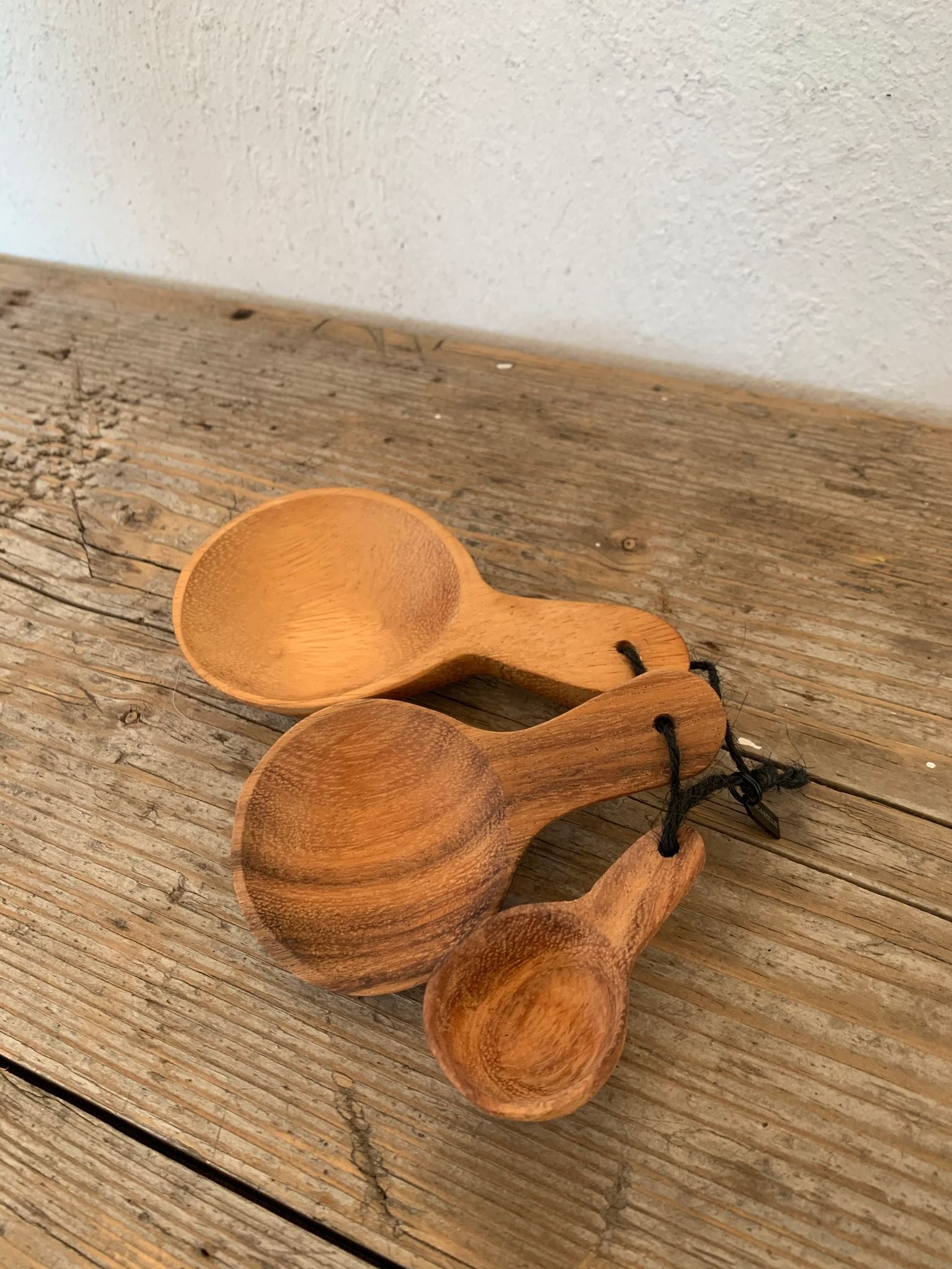 carved wooden spoon set