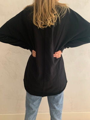 sturdy tunic- black