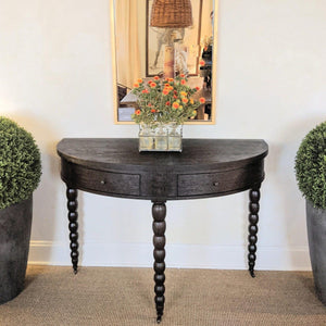 salutation demilune table