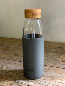 exhale glass bottle