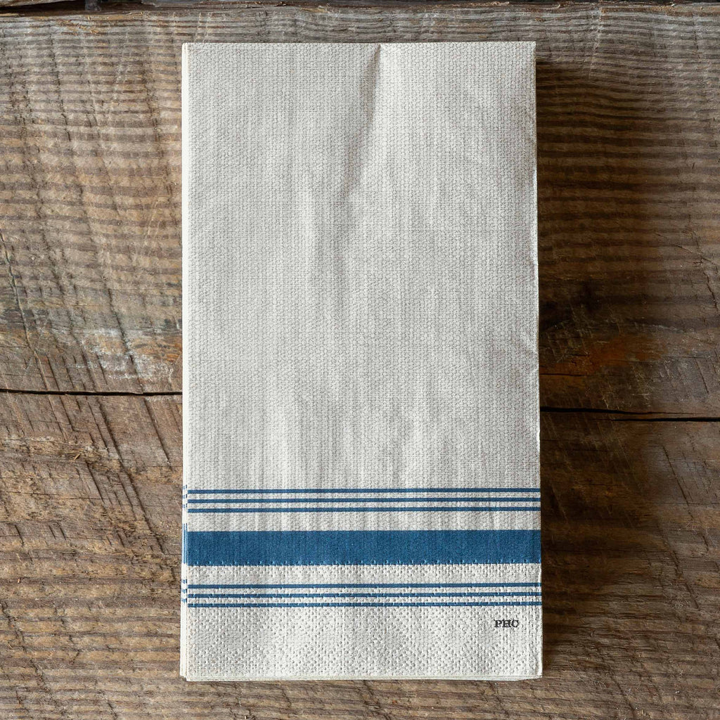 set of 20 striped paper dinner napkins/ guest towels