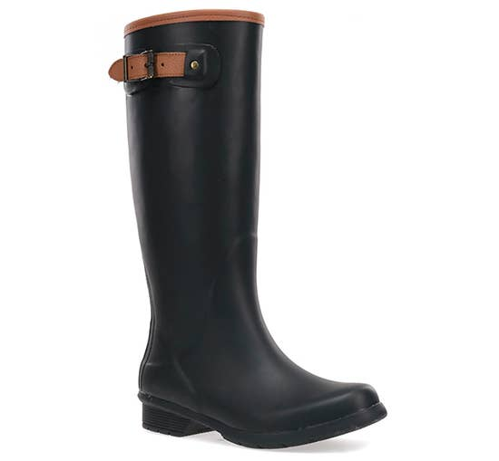tall rainboots- black