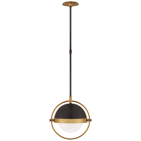 medium bronze and brass globe pendant