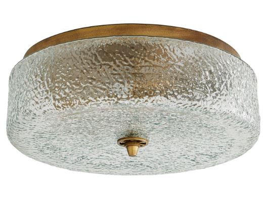 hammered glass flushmount