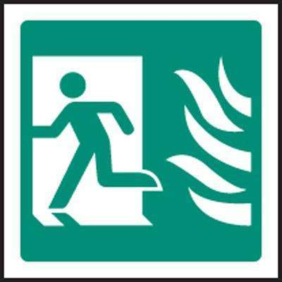 Running Man Symbol Left Htm Sign Fire Safety Signs And Fire