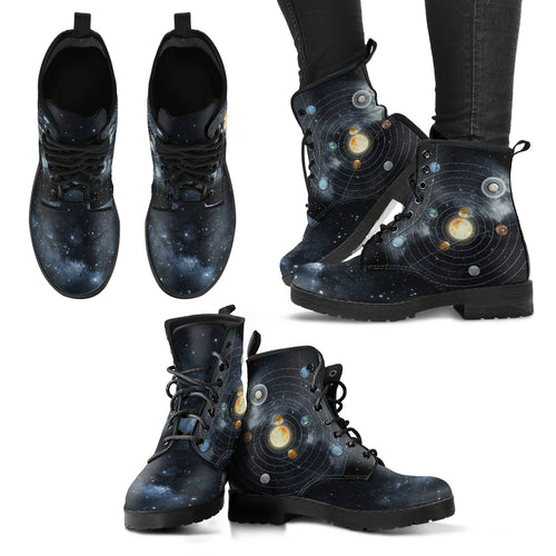 Solar System Handcrafted Boots