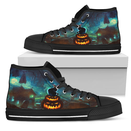 Halloween Kitten - High Top Shoe (Women's)