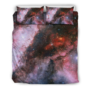 Carina Nebula Bedding Set, 3 Piece - Duvet Cover With Pillow Shams, and Corner Ties