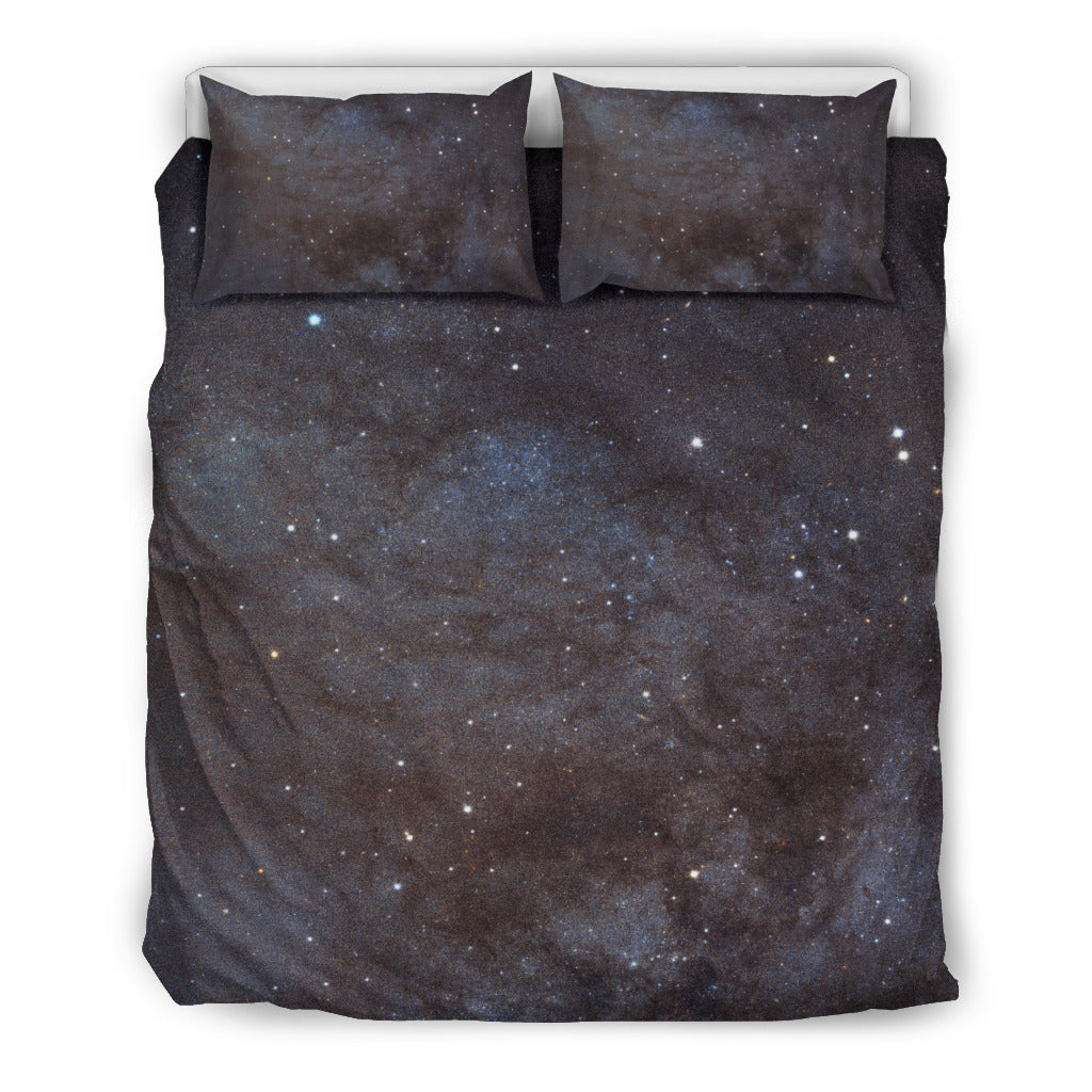 Andromeda's Arm Galaxy Bedding Set, 3 Piece - Duvet Cover With Pillow Shams, and Corner Ties